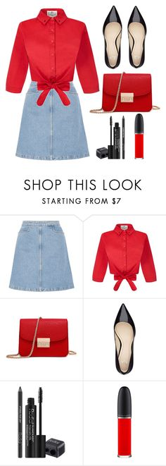 """""""Untitled #176"""" by longarina ❤ liked on Polyvore featuring M.i.h Jeans, Collectif, Rodial and MAC Cosmetics"""