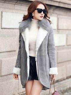 Nouvelle tendance fausse fourrure collier manteau pour femme - Milanoo.com