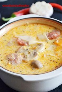 Soup from Ardeal, Romania Healthy Diners, Romania Food, European Dishes, Soup Recipes, Cooking Recipes, Winter Food, Paella, My Favorite Food, I Foods