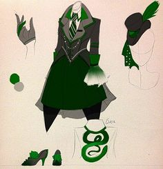 Slytherin: could possibly make a costume similar to this with some stuff lying around