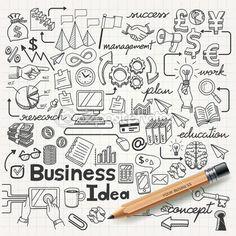 Conjunto de idéia de negócio — Ilustração de Stock #42474363