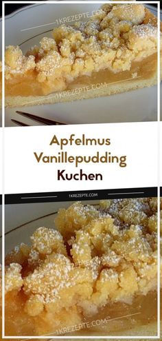 Apfelmus – Vanillepudding – Kuchen Ingredients: For the base: 200 g of flour 80 g of sugar 80 g of butter 1 egg (s) pack of baking powder For the filling: 2 apples 1 pack of applesauce (approx. Easy Smoothie Recipes, Easy Cake Recipes, Cupcake Recipes, Snack Recipes, Simple Recipes, Vanilla Pudding Cake, Custard Cake, Pudding Vanille, Food Cakes