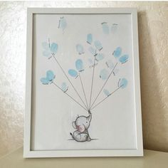 Thumb print baby guest book