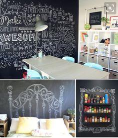 Inspirações de decoração com tinta lousa   Mamãe Plugada
