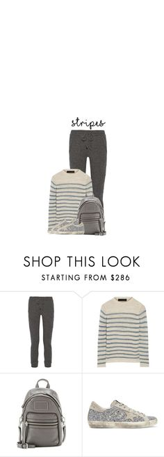 """""""Sweat Stripes"""" by hollowpoint-smile ❤ liked on Polyvore featuring The Elder Statesman, Marc by Marc Jacobs and Golden Goose"""
