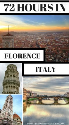 72 Hours in Florence Italy. Planning a trip to Florence, Italy? Use our 72-hour Florence vacation travel guide for the perfect long weekend itinerary, including the best accommodations, attractions and restaurants. Click to read 3 Days in Florence – What to do in Florence #Florence #Italy #Travel #Guide