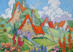 All Paths Should Lead to a Garden Storybook Cottage Series | by Alida Akers