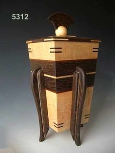 Decorative wood cremation urns can be used as burial urns or to keep in your… Woodworking Workshop Plans, Woodworking Square, Woodworking Inspiration, Woodworking Box, Workbench Plans, Woodworking Classes, Woodworking Projects, Wooden Box Designs, Decorative Wooden Boxes