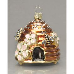 Jay Strongwater Beehive Ornament ($230) found on Polyvore
