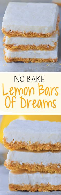 Vegan Lemon Bars Of Dreams Lemon Bars Healthy, Vegan Lemon Bars, Healthy Desserts, Just Desserts, Delicious Desserts, Vegan Lemon Desserts, Healthy Lemon Desserts, Vegan Dessert Recipes, Dairy Free Recipes