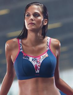 930ee71410 Panache Non Wired Sports Bra Grey Floral