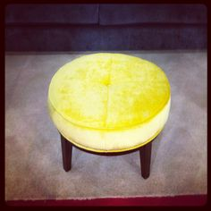 Stool, banana yellow velvet