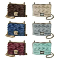Trendy colors of crochet handbags by the trend of Sevirikamania