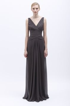 IMAGES FOR 2014 BRIDESMAIDS DRESSES | ... of Monique Lhuillier Spring 2014 Bridesmaid Dress 450136 Charcoal