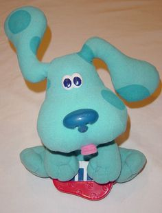 Fisher Price Freeze Dance Blues Clues Plush Toy Musical Toddler Mattel 2000   #FisherPrice
