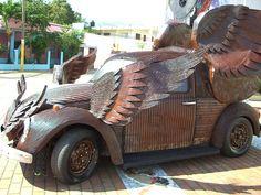 Slug bug Art Bug VW beetle bird wings
