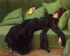 Young Decadent - After the Ball c. 1899 by Ramon Casas – Catalan Spanish artist and graphic designer who helped to define the Catalan art movement known as modernisme. Mary Cassatt, Spanish Painters, Spanish Artists, Ramones, Antonio Tabucchi, Illustrations, Illustration Art, Renoir, Woman Reading