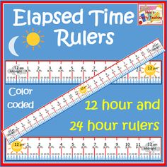 Elapsed time ruler (hands on and visual) from Nyla's Crafty Teaching TPT $. I have these.