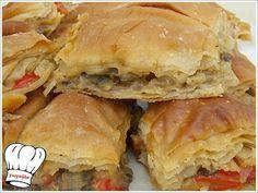 ΜΑΝΙΤΑΡΟΠΙΤΑ ΤΗΣ ΓΩΓΩΣ!!! Spanakopita, Greek Recipes, Apple Pie, Sandwiches, Stuffed Mushrooms, Easy Meals, Pizza, Eat, Ethnic Recipes