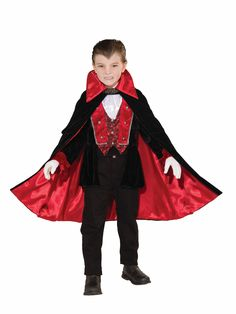 #70603 70604 70605 This Victorian V&ire Costume includes the cape jacket with attached vest and the jabot. Donu0027t forget the makeup and v&ire teeth ...  sc 1 st  Pinterest & Childsu0027 Vampire Costume | Childrenu0027s Costumes Patterns | Pinterest ...