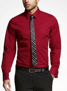 Shop the latest trends in women's and men's clothing at Express! Find your favorite jeans, sweaters, dresses, suits, coats and more. Business Casual Attire For Men, Shirt And Tie Combinations, French Cuff Shirts, Grown Man, Playing Dress Up, Latest Trends, Man Shop, Mens Fashion, Suits
