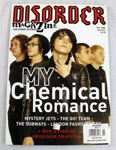 Disorder Music Magazine NOV 2005 My Chemical Romance Mystery Jets The Subways UK Mystery Jets, Music Magazines, My Chemical Romance, Hard To Find, Disorders, Learning, Ebay, Studying, Teaching
