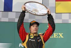 Kimi's trophy- in 2013 Australian Grand Prix, Formula One, Captain Hat, Racing, F1, Lotus, Spaces, Cars, Google