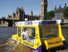 Cadburys Ice Cream van on the Thames