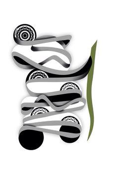 Persian typography  Illustration  Wise panda