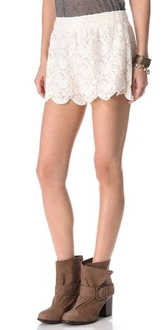 Free People Scalloped Lace Short | SHOPBOP