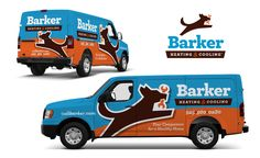 Vehicle wrap design for Barker Heating & Cooling - NJ Advertising Agency, NJ Ad Agency, NJ Truck Wrap Design, NJ Vehicle Wrap Design | KickCharge® Creative #besttruckwrap #besttruckwraps #bestvehiclewrap #bestvehiclewraps #truckwrap #vehiclewrap