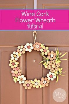 Step by step tutorial and detailed supplies list to making a beautiful wine cork wreath for summer. And for less than $14!