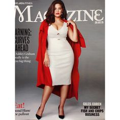 """""""You're as ripe and firm and plump as a mango!"""" @timesfashiondesk cover #TheTimes Red jacket is from the new Design Collective line at @evansclothing #iamsizesexy #beautybeyondsize #curvesfordays #ashleygraham"""