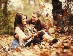 Love this fall engagement shoot