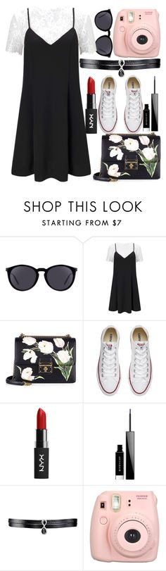 """""""Very Hipster 2016"""" by egordon2 ❤ liked on Polyvore featuring Yves Saint Laurent, Miss Selfridge, Dolce&Gabbana, Converse, Givenchy, Fallon and Fujifilm"""