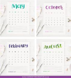 50  2017 FREE printable calendars