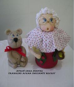 Pote em biscuit natal - ursinho em biscuit polymer clay porcelana fria pasta francesa masa flexible modelado modelling figurine topper fondante