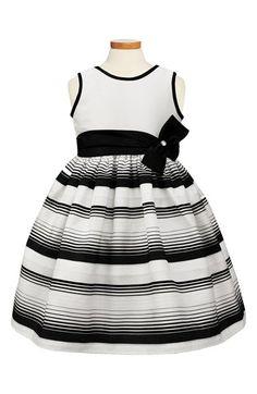 Sorbet Stripe Fit & Flare Dress (Toddler Girls, Little Girls & Big Girls) Little Girl Summer Dresses, Toddler Girl Dresses, Little Girl Dresses, Girls Dresses, Frocks For Girls, Kids Frocks, Moda Kids, Sweet Dress, Kind Mode