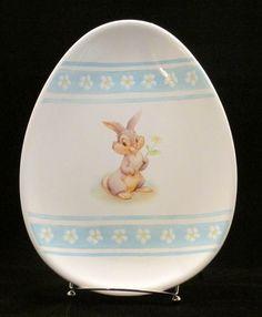 "Disney Thumper Bambi Egg Shaped Easter Platter Dish Plate Disney Store 10"" Free US Shipping JHFK $24.97 at ShopJustGifts.com"