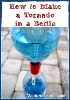 This is an easy and fun experiment that you can do at home to demonstrate the power of a vortex. Kids will be able to (safely!) see a vortex in action—a perfect activity to use when studying hurricanes, tornadoes or maelstroms. View this science activity at World for Learning!