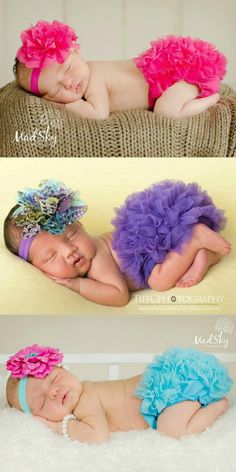 Find the perfect baby headband and bloomer set for your little fashionistas upcoming photos today! Our baby sets have free shipping! #kemaily