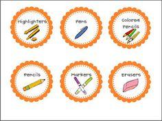 Classroom Freebies Too: Writing Center Caddy - free labels! Classroom Labels, Classroom Freebies, Classroom Organization, Classroom Ideas, Center Management, Organization And Management, Classroom Management, Supply Labels, Center Labels