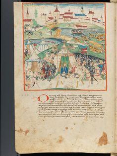 Bern, Burgerbibliothek, Mss.h.h.I.1, f. 48 – Diebold Schilling, Amtliche Berner Chronik, vol. 1