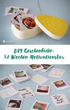 DIY Geschenkidee, 52 Wochen Motivationsbox, Fotobox mit Inspiration und Sprüchen, Dates, schön als Hochzeitsgeschenk, Geschenk für Freundinnen, Valentinstagsidee, Jahrestag, Hochzeitstag Idee