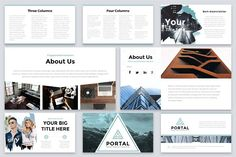 Portal Modern Powerpoint Template by Reshapely on Portal is a Clean and easy to customize Powerpoint Template. Each of the images used are under the license and are included Affiliate ad link. Good Presentation, Presentation Templates, Business Advice, Home Based Business, Page Design, Web Design, Cover Design, Graphic Design, Create Powerpoint Template