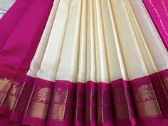 Blue Silk Saree, Wedding Silk Saree, White Saree, Indian Silk Sarees, Soft Silk Sarees, Ethnic Sarees, Silk Saree Kanchipuram, Handloom Saree, Saree Tassels