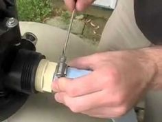 How to backwash a sand filter.