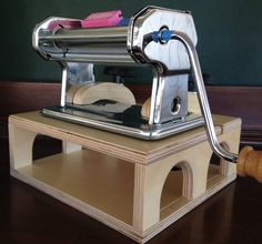 Pasta Pal , universal fit polymer clay pasta machine riser for polymer clay artist lets you work straight on or at any angle you choose