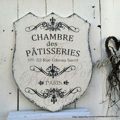 French Pastries  House of Pastries  Paris by thebackporchshoppe on etsy