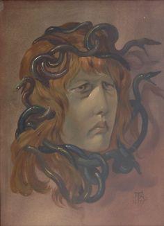 Hans Thoma , Medusa 1877